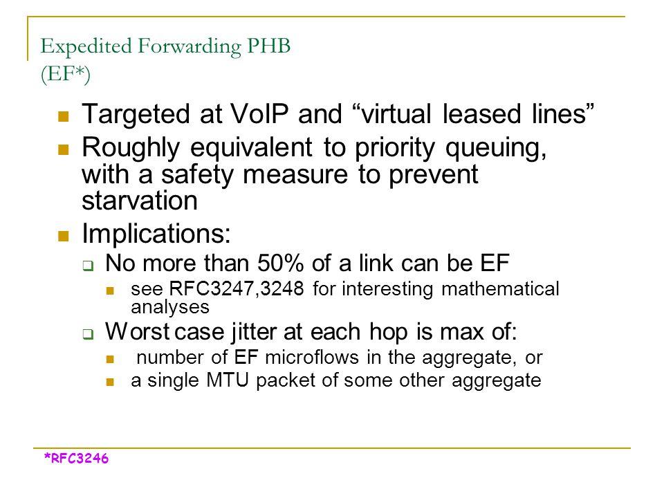 Expedited Forwarding PHB (EF*)