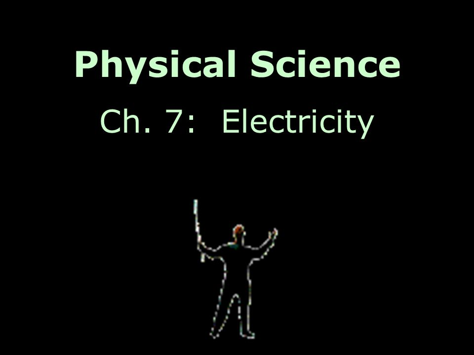 Physical Science Ch. 7: Electricity