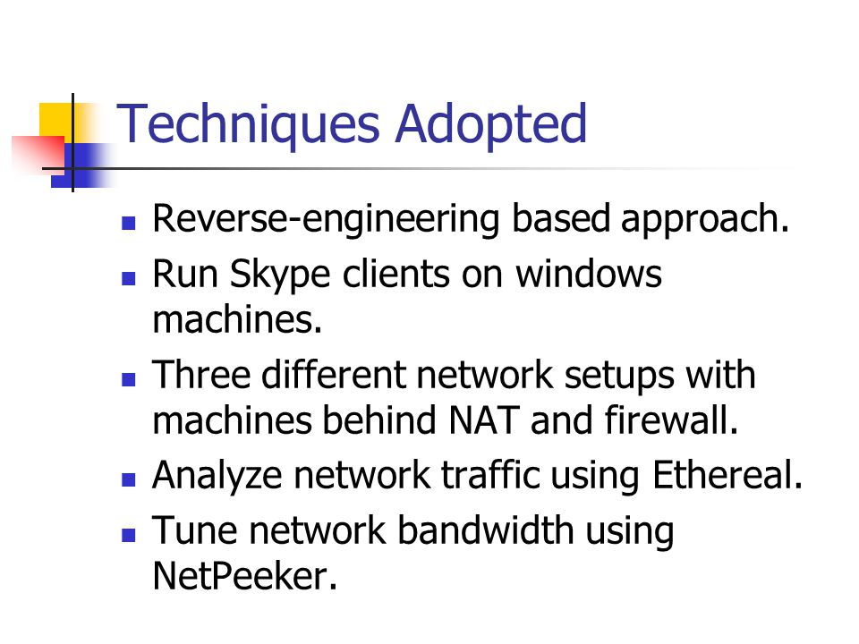 Techniques Adopted Reverse-engineering based approach.