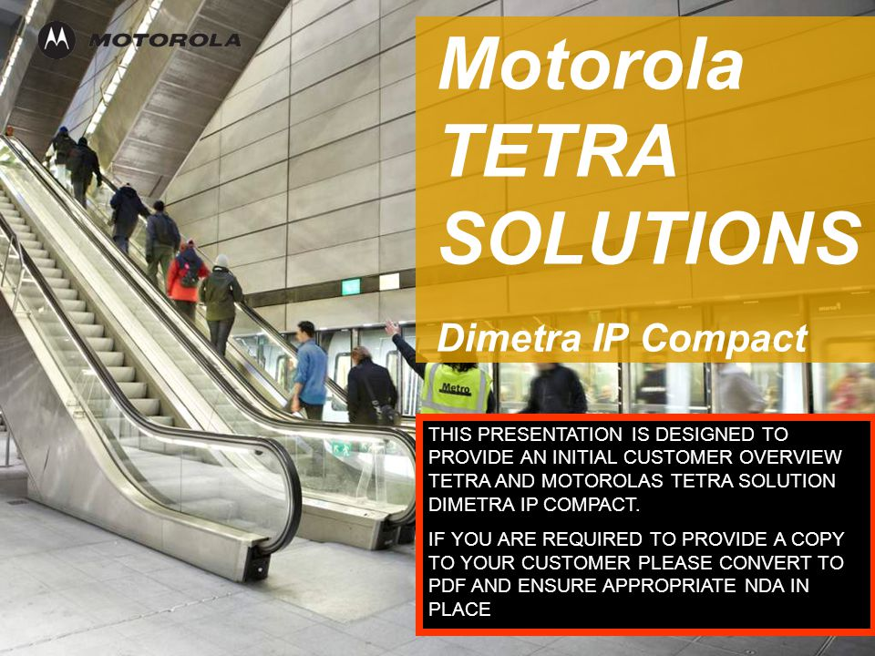 Motorola TETRA SOLUTIONSDimetra IP Compact