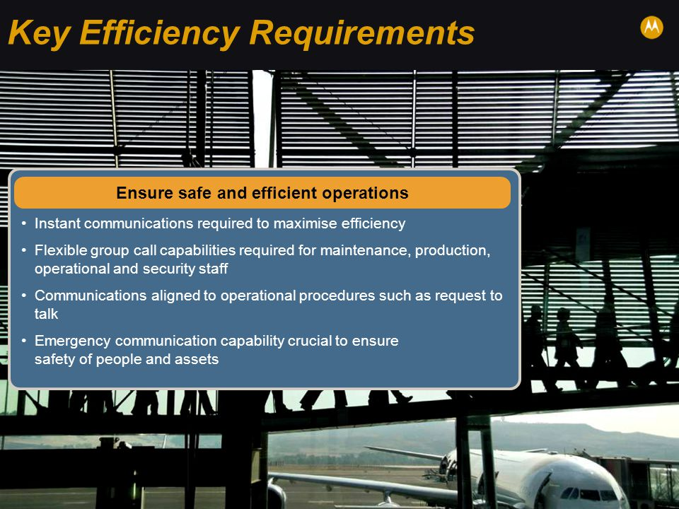 Key Efficiency Requirements