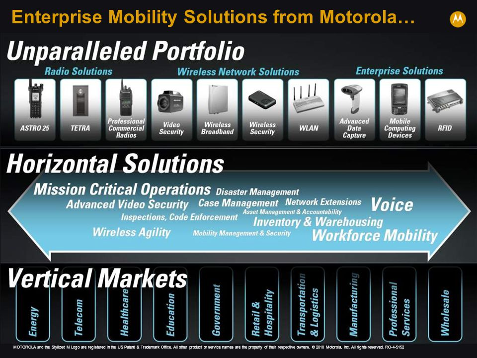 Enterprise Mobility Solutions from Motorola…
