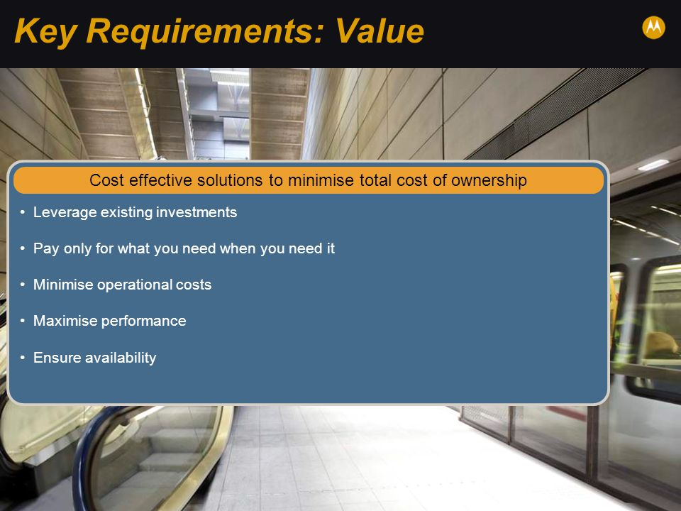 Key Requirements: Value