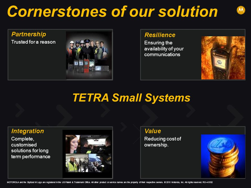 Cornerstones of our solution