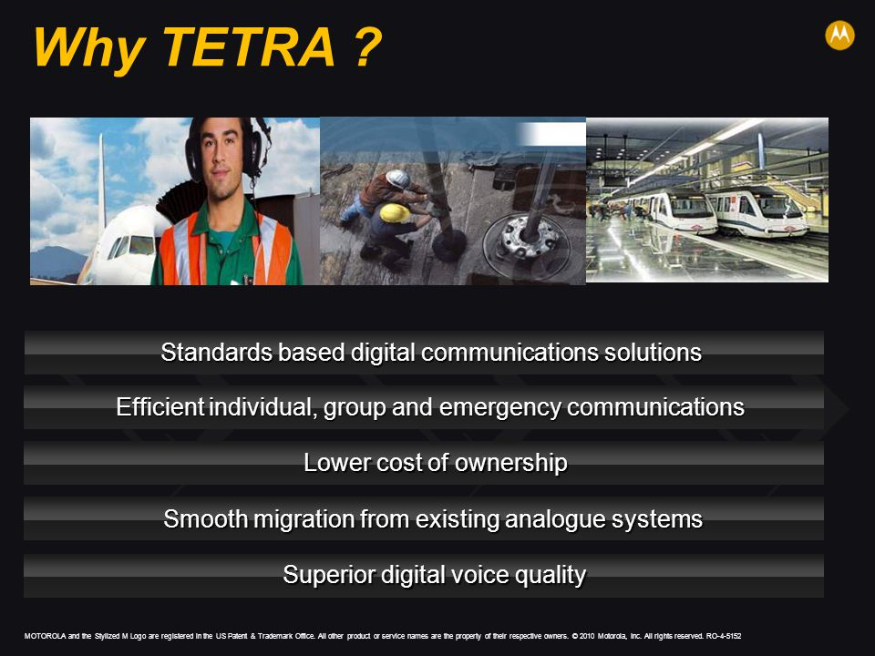 Why TETRA Standards based digital communications solutions