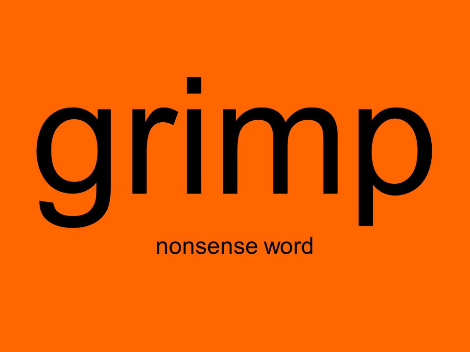 grimp nonsense word
