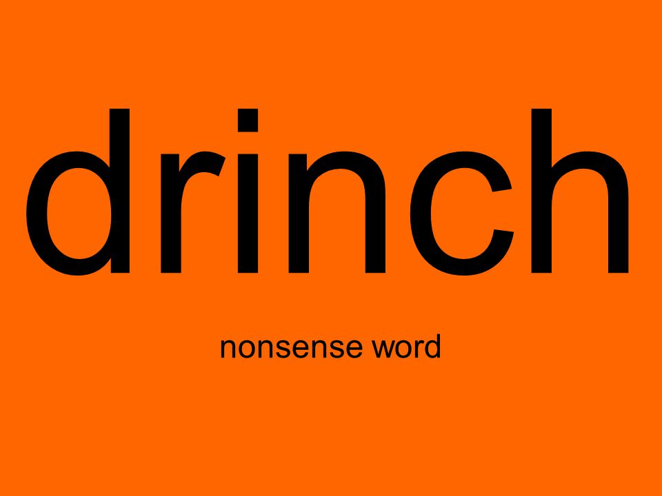 drinch nonsense word