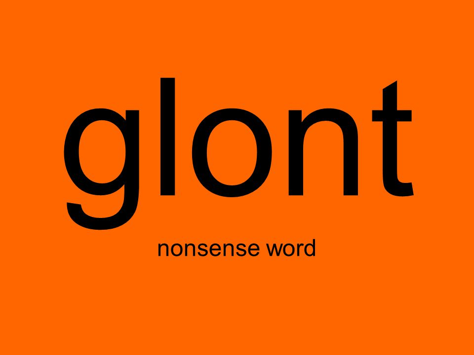 glont nonsense word
