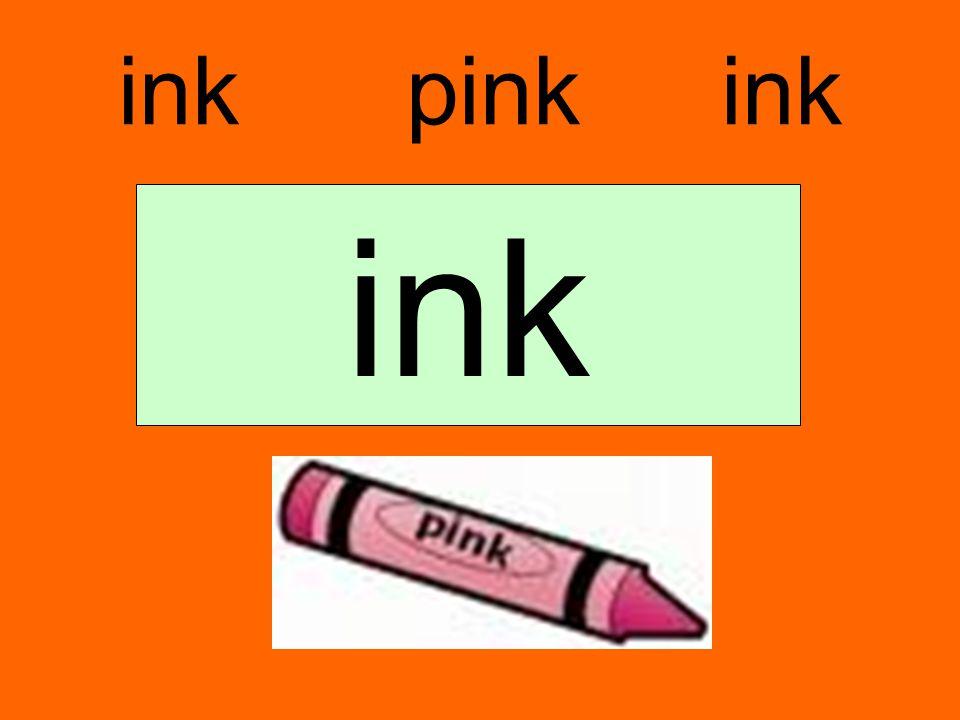 ink pink ink ink