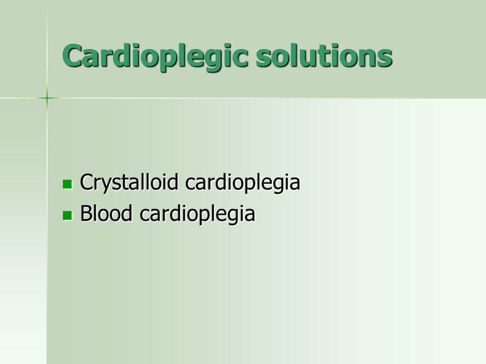 Cardioplegic solutions