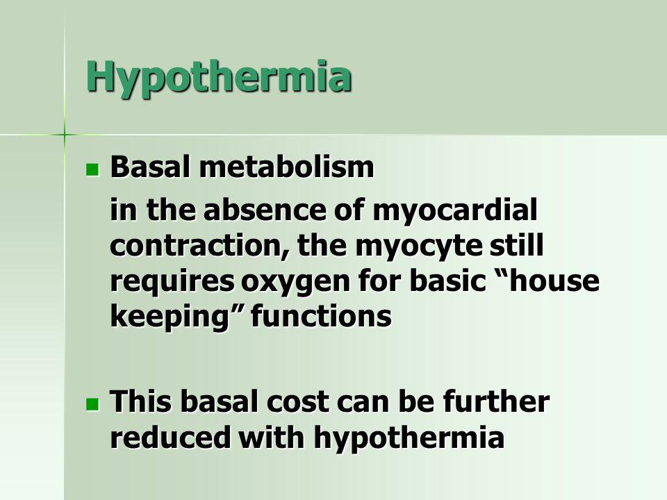 Hypothermia Basal metabolism