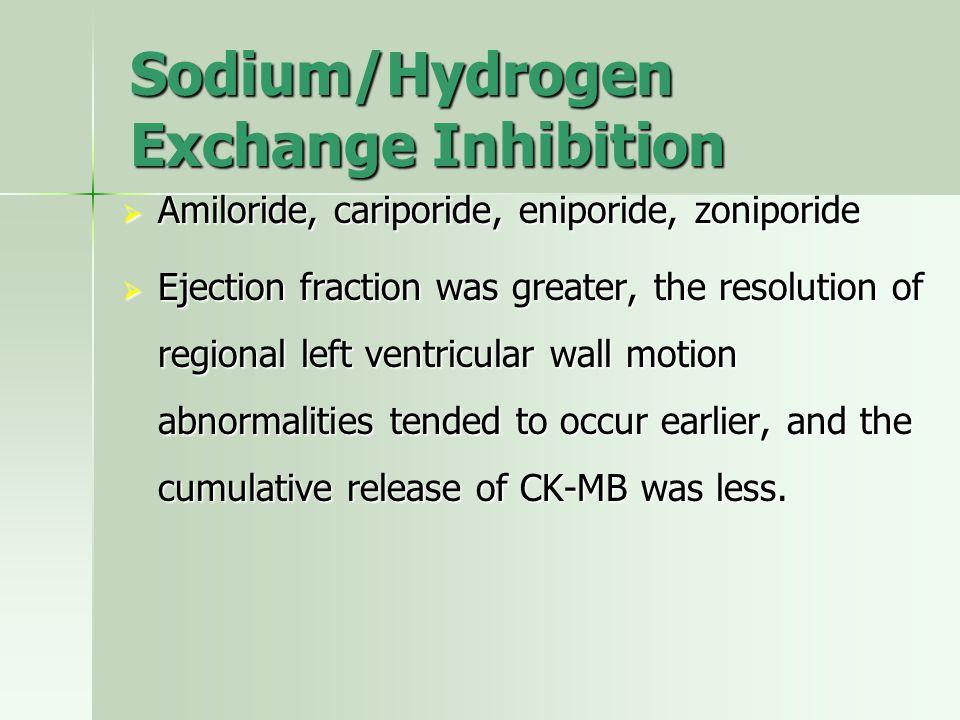 Sodium/Hydrogen Exchange Inhibition