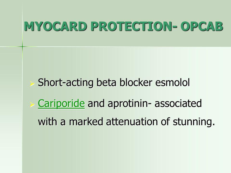 MYOCARD PROTECTION- OPCAB