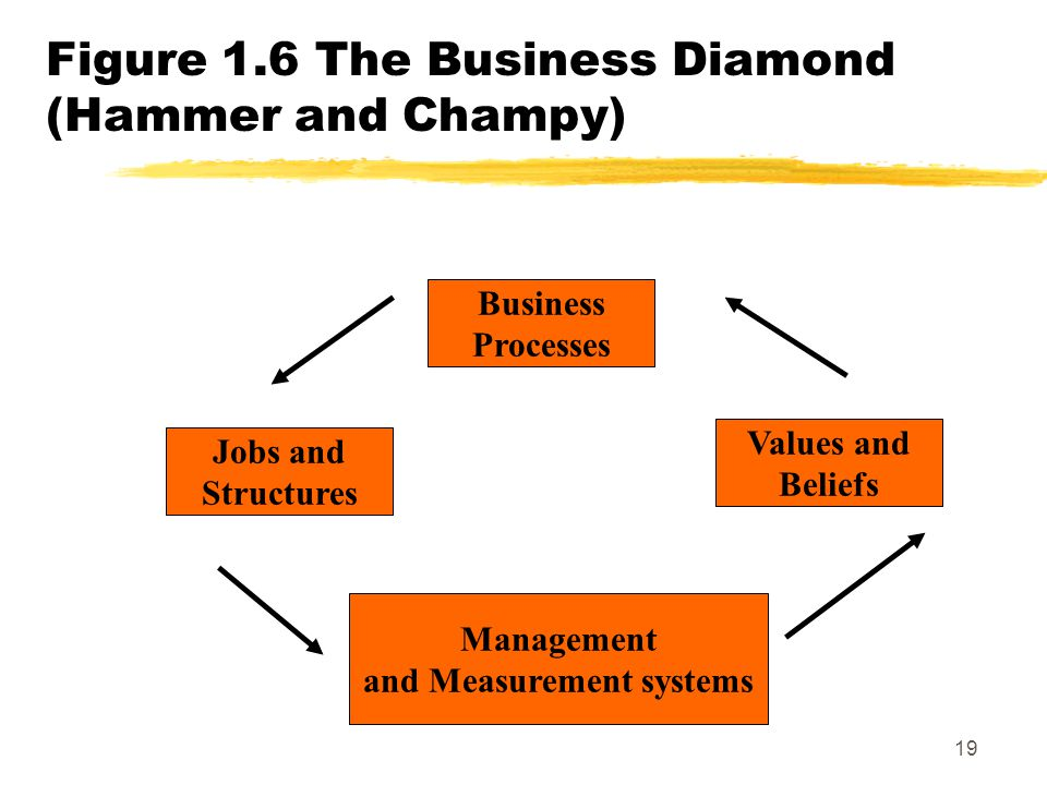 Figure 1.6 The Business Diamond (Hammer and Champy)