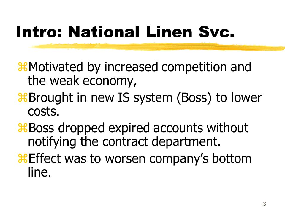 Intro: National Linen Svc.