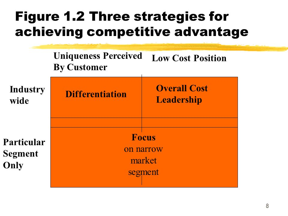 Figure 1.2 Three strategies for achieving competitive advantage
