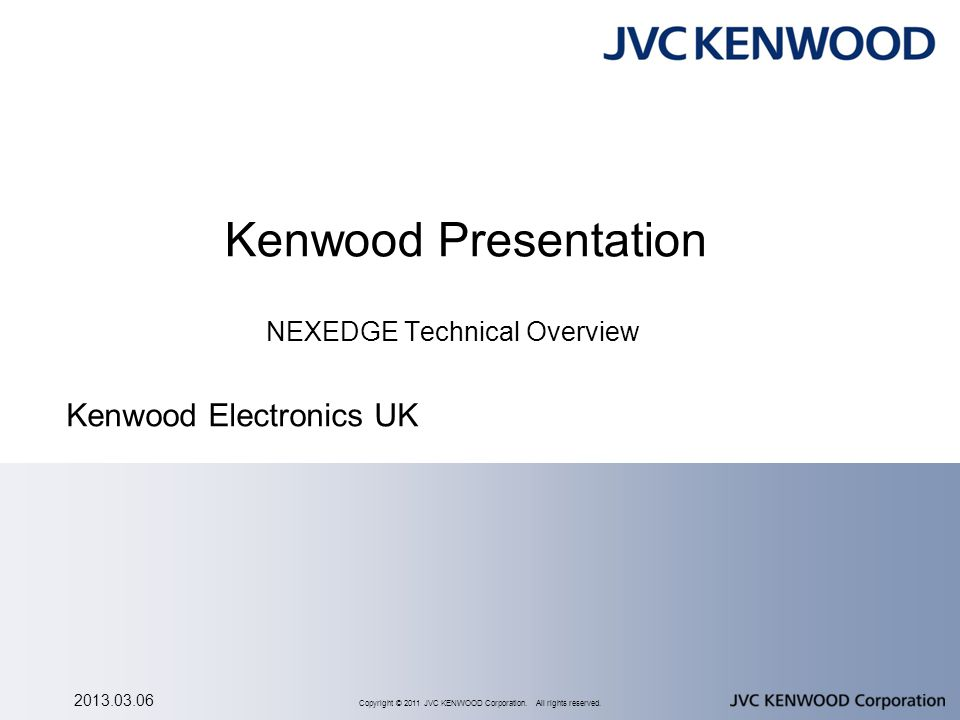 Presentation Agenda Introduction - Digital Radio Standards NEXEDGE
