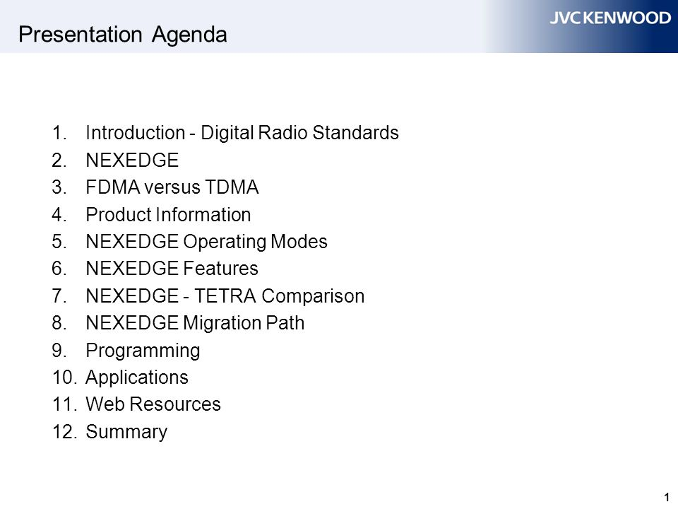 1 1. Introduction - Digital Radio Standards