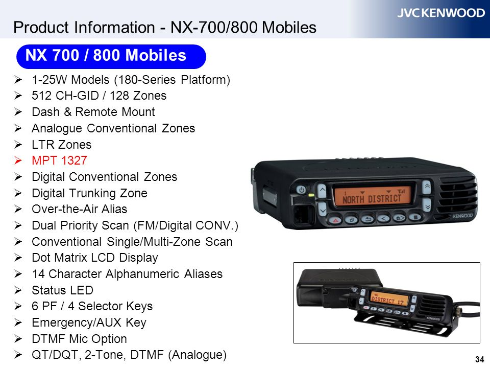 Product Information - NX-700/800 Mobiles