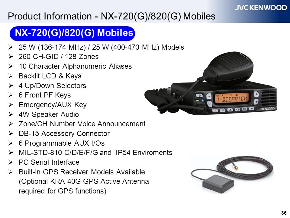 Product Information - NX-720(G)/820(G) Mobiles