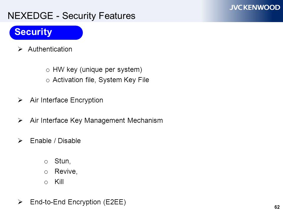 NEXEDGE - Security Features