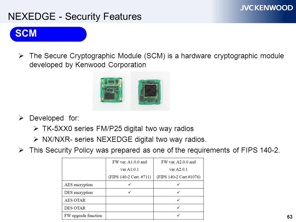 NEXEDGE - AES & DES SCM Module