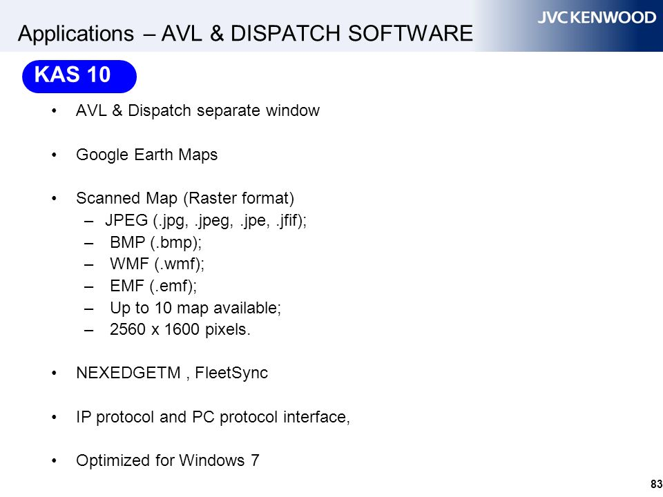 Applications – AVL & DISPATCH SOFTWARE