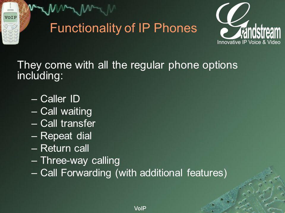 Functionality of IP Phones