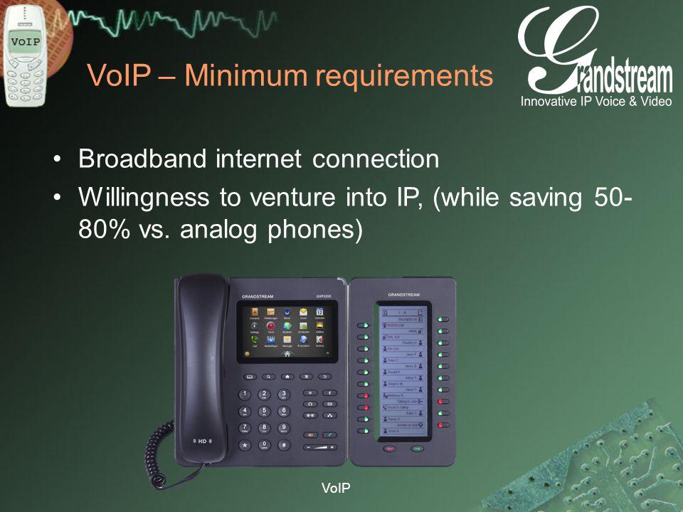 VoIP – Minimum requirements