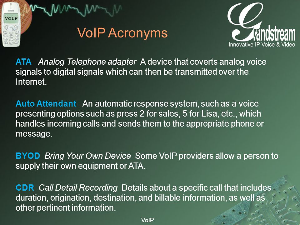 VoIP Acronyms