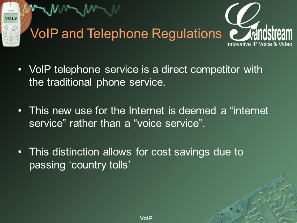 VoIP and Telephone Regulations