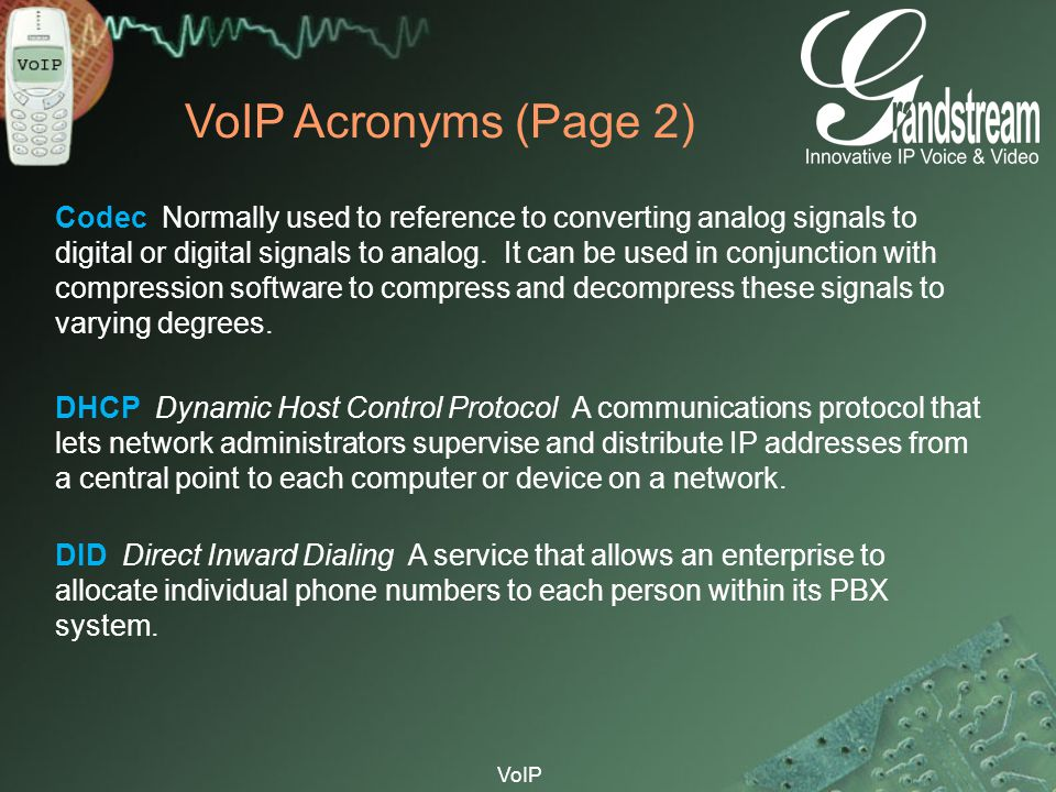 VoIP Acronyms (Page 2)