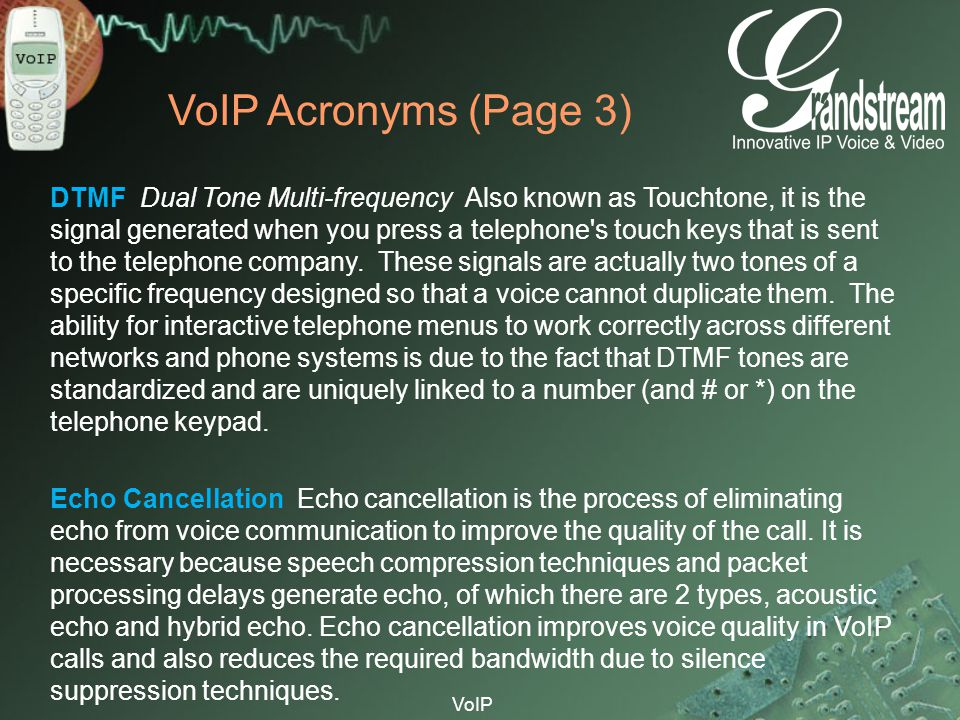 VoIP Acronyms (Page 3)