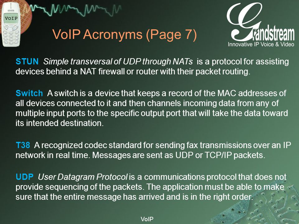 VoIP Acronyms (Page 7)