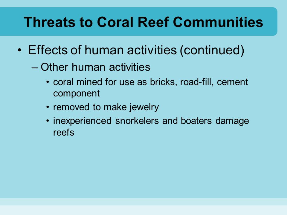 Threats to Coral Reef Communities