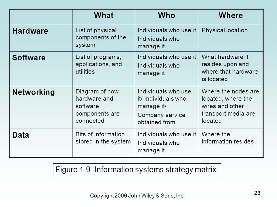 Figure 1.9 Information systems strategy matrix.