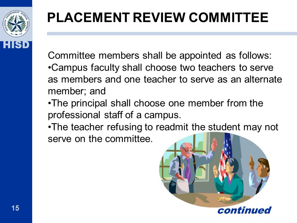 PLACEMENT REVIEW COMMITTEE