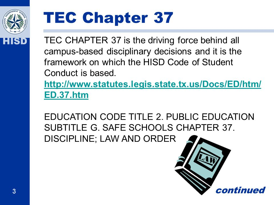 TEC Chapter 37