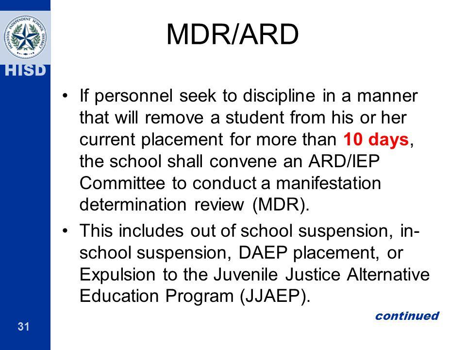 MDR/ARD