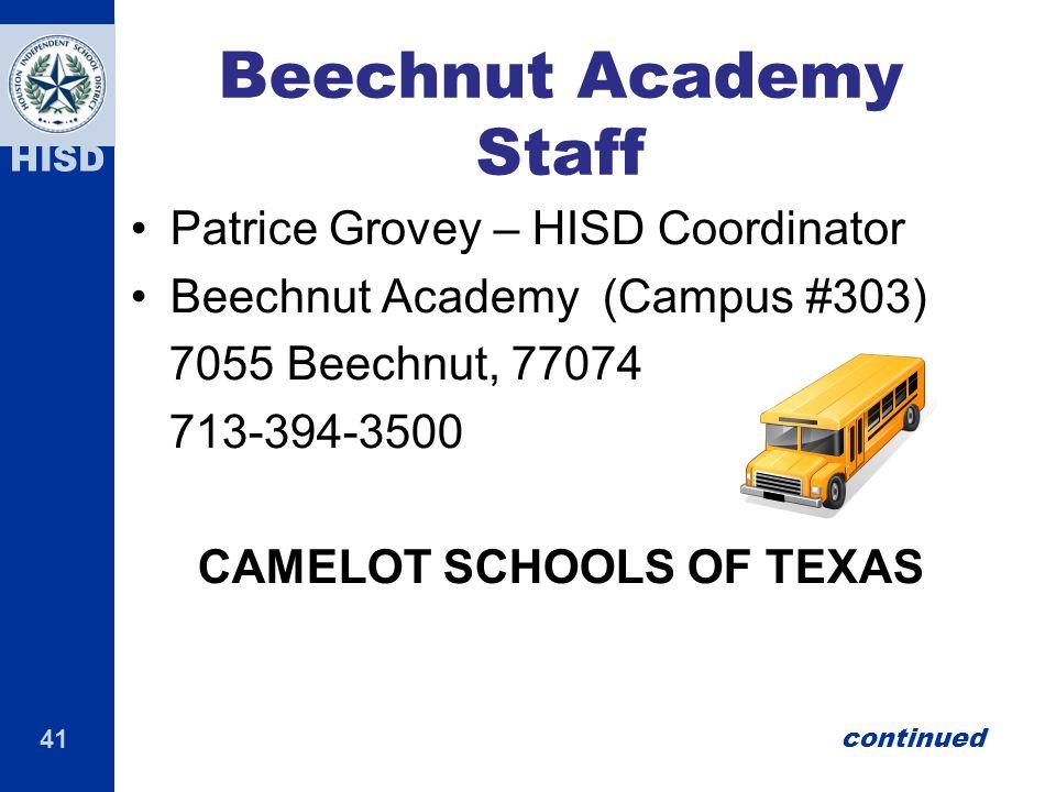 Beechnut Academy Staff