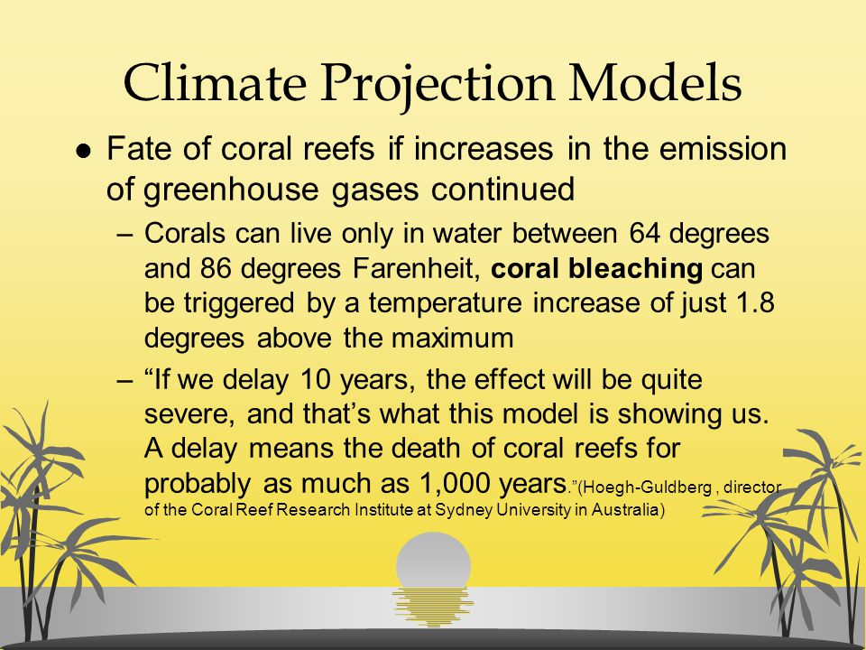 Climate Projection Models