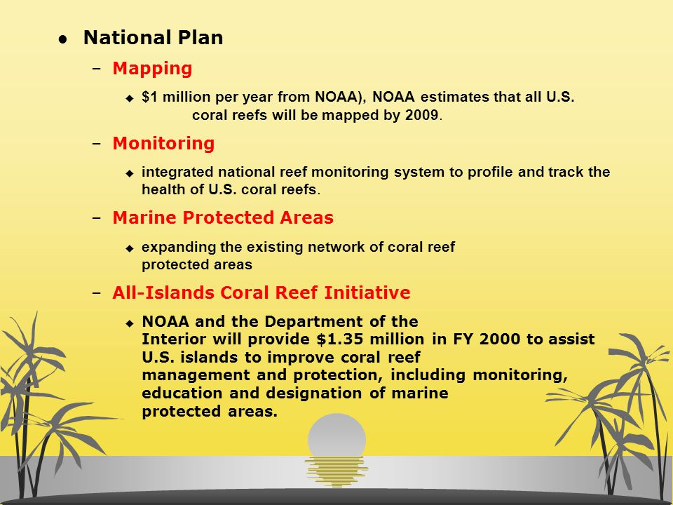 National Plan Mapping Monitoring Marine Protected Areas