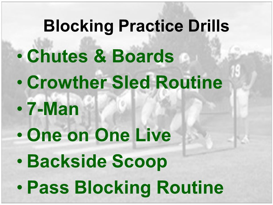Blocking Practice Drills