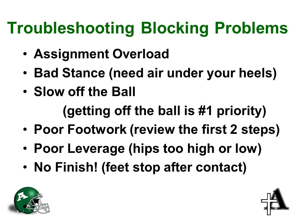 Troubleshooting Blocking Problems