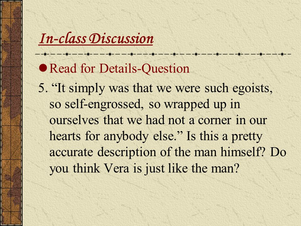 In-class Discussion Read for Details-Question