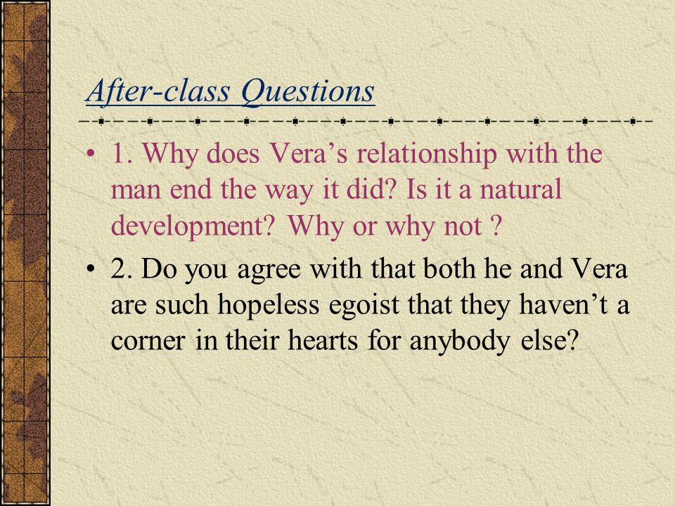 After-class Questions