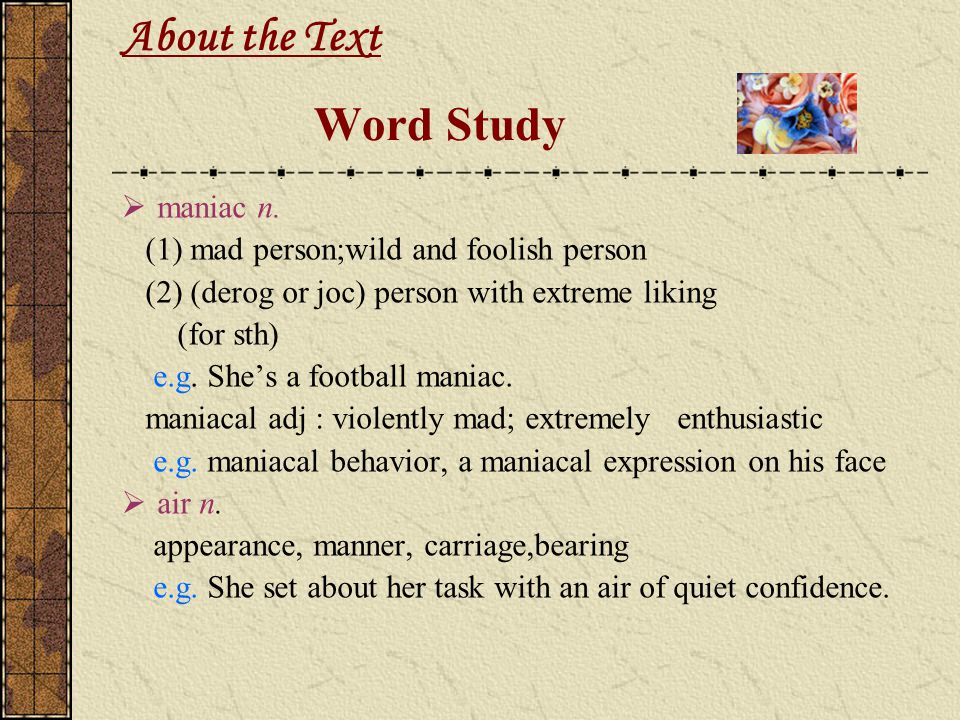 About the Text Word Study