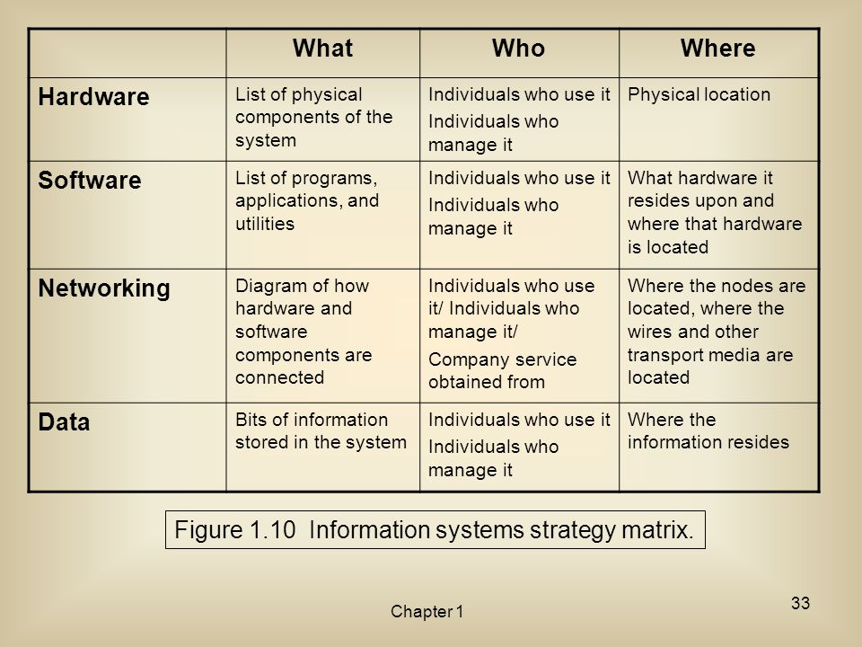 Figure 1.10 Information systems strategy matrix.