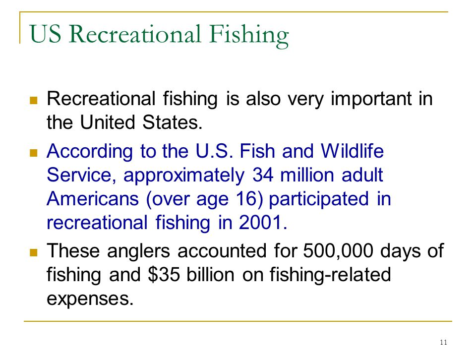 US Recreational Fishing