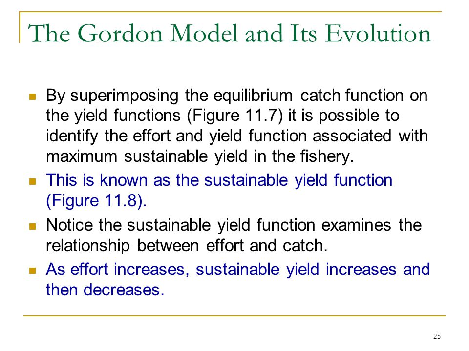 The Gordon Model and Its Evolution